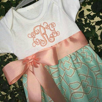 Infant gown - keepsake dress - bring baby home gown - handmade gown -