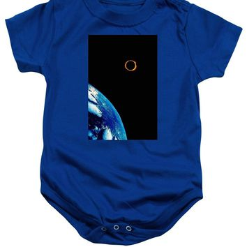 Solar Eclipse From The Space By Adam Asar 2 - Baby Onesuit