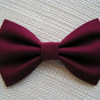 Crimson-Hair bow, Hair bows for girls, cute hair bows out of cotton fabric, bow brooch