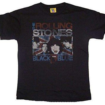 Junk Food Boys Rolling Stones Black and Blue T-Shirt
