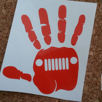 Jeep Hand Decal | Jeep Decal | Car Decal | Jeep | Decal | Laptop Decal | Monogram | Preppy Decal | Hand Decal