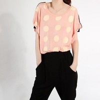 polka dot top by JulyS on Etsy