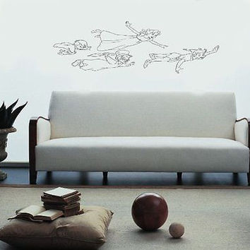 Peter Pan Wendy Flying Disney Wall art Sticker Decal 006