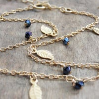Cupshe Little Leave Blue Diamonds Anklet