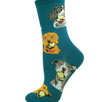 Socksmith Antique Blue Ball Dog Socks