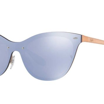 Ray-Ban Womens Sunglasses Blue Metal - Non-Polarized - 43mm