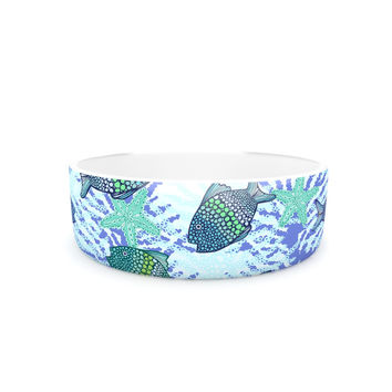"Julia Grifol ""My Colorful Fishes"" Blue Teal Pet Bowl"