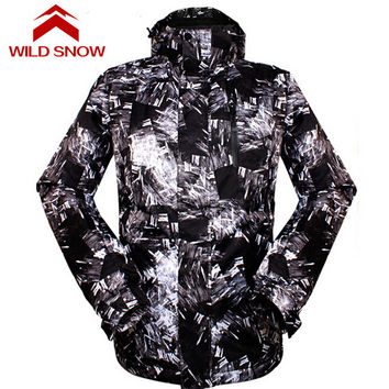 Wild Snow Outdoor Sport Windproof Snowboard Clothing Men's Skiing Snow Jacket Waterproof Winter Warm Ski Hiking Coats