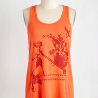 ModCloth Eco-Friendly Mid-length Sleeveless Harvest Artist Top