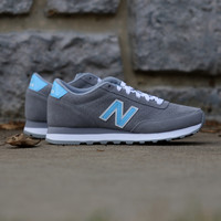 New Balance - 501 New Balance Suede - Grey with Light Blue