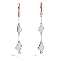 Namora - Aquamarine Link Earrings
