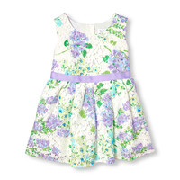 Toddler Girls Sleeveless Floral Printed Lace Dress | The Children's Place