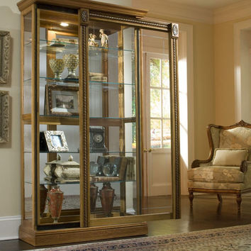 Estate Oak Curio Cabinet by Pulaski Furniture
