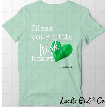 Bless Your Little Irish Heart St. Patrick's Day Graphic Tee