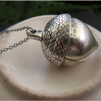Silver Acorn Necklace by sodalex on Etsy