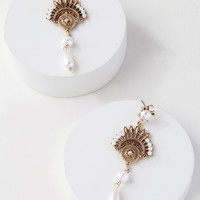 Marrakesh My Eye Gold Pearl Earrings