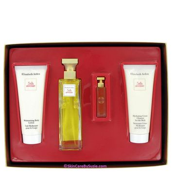 5th Avenue By Elizabeth Arden Gift Set -- 2.5 Oz Eau De Parfum Spray + 3.3 Oz Body Lotion Tube + 3.3 Oz Hydrating Cream Cleanser + .12 Parfum