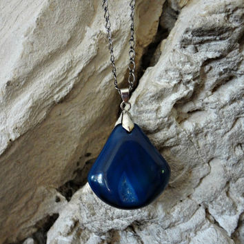 Sapphire Necklace by EudaimoniaJewelry on Etsy