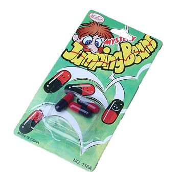 3pcs Jumping Beans Toy Gift Comedy Magic Trick Funny Practical Jokes Intellectual Pills Toys for Adult