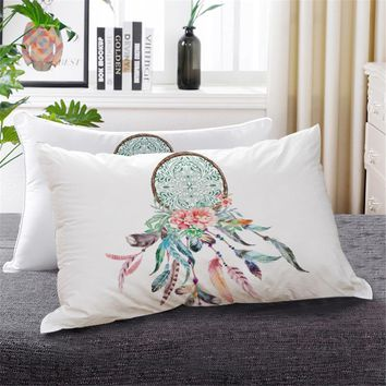 BeddingOutlet Dreamcatcher Down Alternative Bed Pillow Bohemian Colorful Bedding 1pc Floral Hippie Decorative Sleeping Pillows