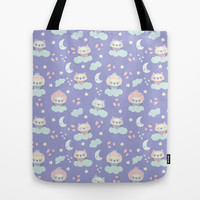 0wl owl baby Tote Bag by Claudia Ramos Designs