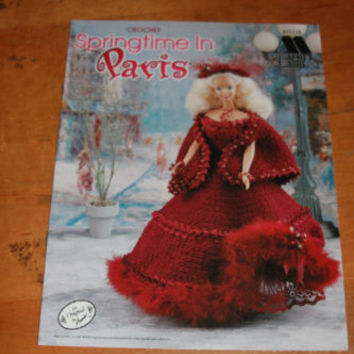 Crochet Doll Pattern Barbie Springtime Paris Dress Hat