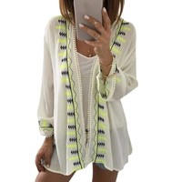 Chiffon Embroidery Cover-Up