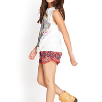 FOREVER 21 GIRLS Dream Catcher Muscle Tee (Kids) Cream/Multi 5/6
