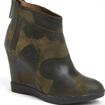 Donald J Pliner Square-Toe Wedge Booties