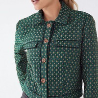 UO Peggy Jacquard Jacket | Urban Outfitters