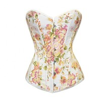 White Corset with Flower Petal Design