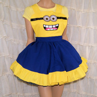 Minion Cosplay Pinafore Apron Costume Skirt Adult ALL Sizes - MTCoffinz