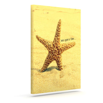 "Robin Dickinson ""Once upon a Time"" Starfish Outdoor Canvas Wall Art"