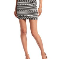 High-Waisted Aztec Mini Skirt