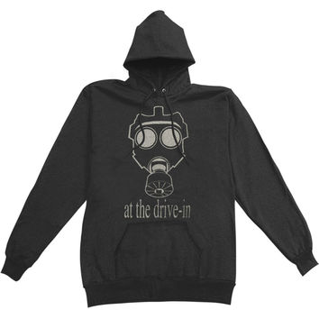 At The Drive In Men's  Gas Mask Hooded Sweatshirt Black Rockabilia