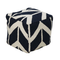 Bow & Angles Pouf
