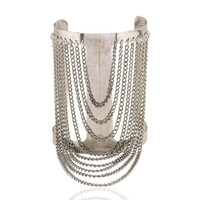 Silver Chain Bangles Tassel Bracelet Fashion Big Cuff Bracelet & Bangles Vintage Punk Jewelry For Women
