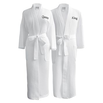 Lakeview Signature Egyptian Cotton Resort Waffle Spa Robe - Gift Shop Host