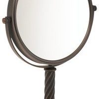 Jerdon 8-Inch Tabletop Two-Sided Swivel Mirror with 5x Magnification, 13-Inch Height