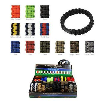 9 in Survival Bracelet Paracord PCB924DS