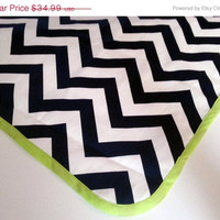 "Chevron On Sale Chevron Table Cloth 36"" x 36"" - Your choice of fabric and trim colors - Wedding / Decor / Party"