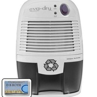 Eva Dry EDV-1100 Thermo Electric Peltier Dehumidifier, 16 Oz Removable Water Tank, Effectiveness 1,