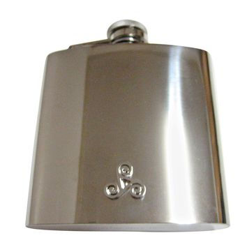 Rounded Celtic Design 6 Oz. Stainless Steel Flask