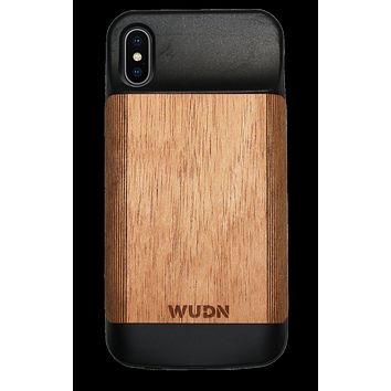 Wooden iPhone X & Xs, Battery Charging Case