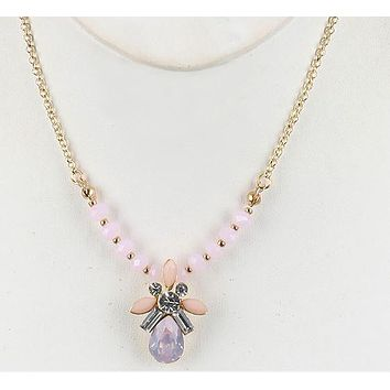 Drop Everything Crystal Drop Necklace