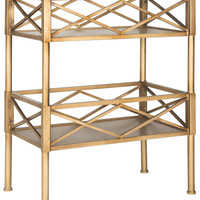 Jamese Storage Shelves Gold
