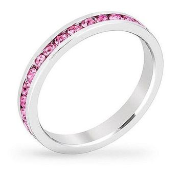 October Crystal Eternity Band