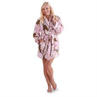 Realtree Girl Women's Stargaze RT APC Pink Camo Bath Robe