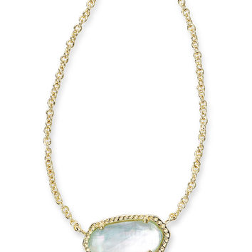 Kendra Scott Elisa Light Blue Illusion Gold Necklace