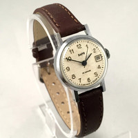 "VINTAGE tiny women's watch ""ZARIA""/ ""ZARJA"" 17jewels movement.Comes with brand new leather band."